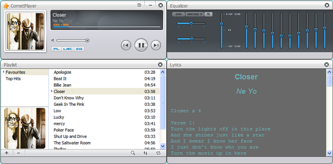 CometPlayer Screenshot 1