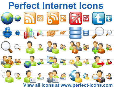 Perfect Internet Icons Screenshot 1