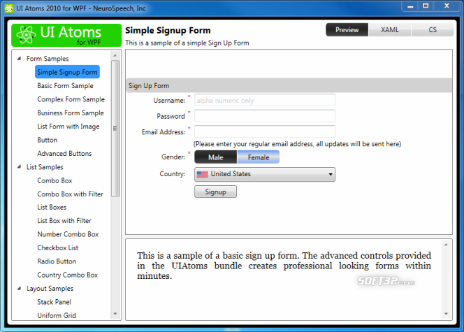 UI Atoms for Silverlight Screenshot 2