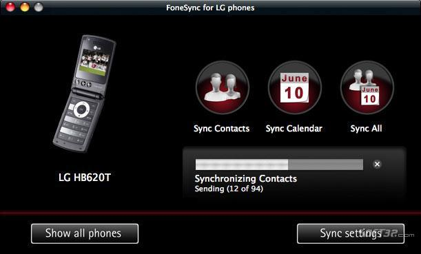 FoneSync for LG phones Screenshot 2