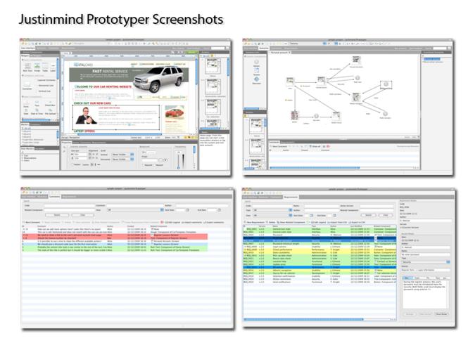 Justinmind Prototyper Screenshot 1