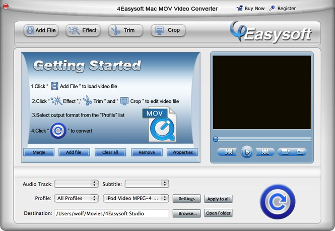 4Easysoft Mac MOV Video Converter Screenshot 1