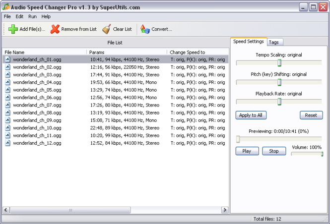 Audio Speed Changer Pro Screenshot