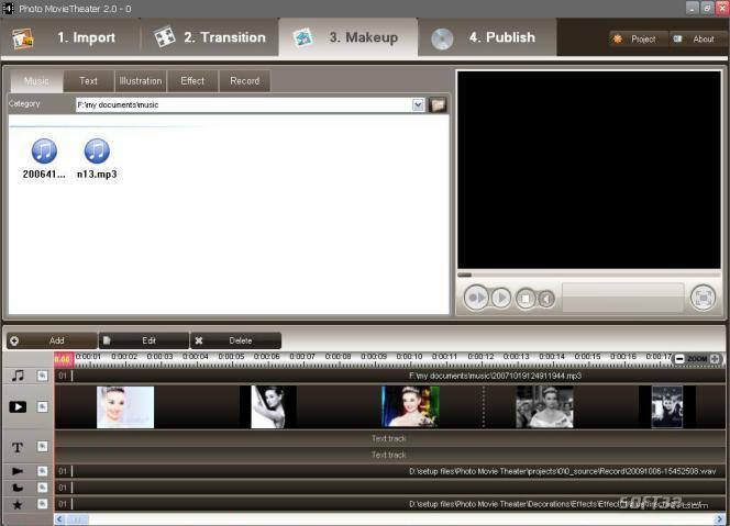 E.M. Free DVD Photo Slideshow Screenshot 3