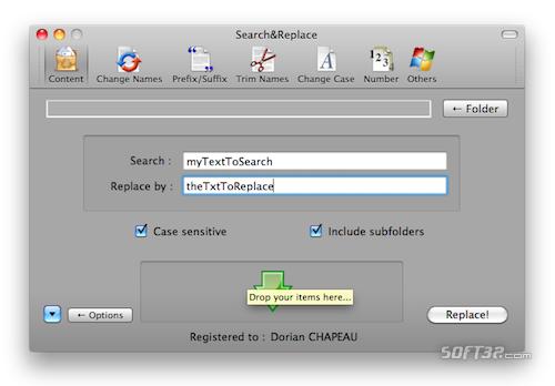 Search&Replace Screenshot
