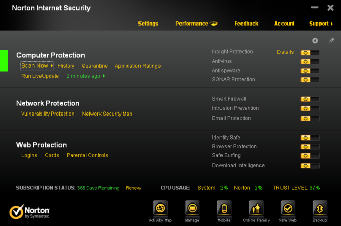 Norton Internet Security Screenshot 2