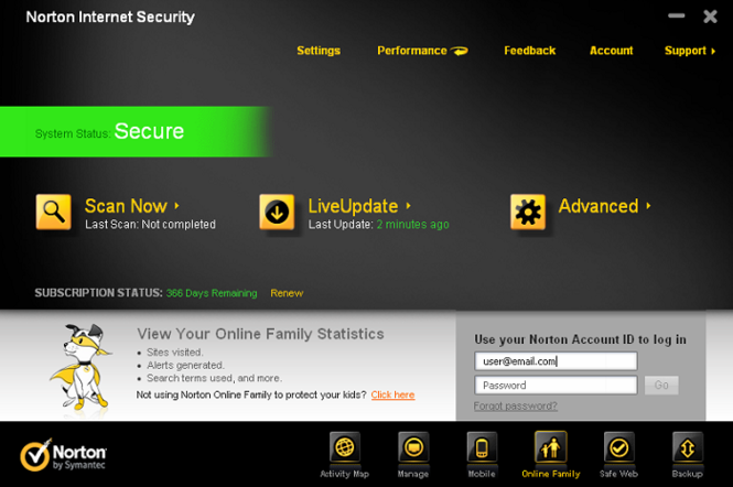 Norton Internet Security Screenshot 3