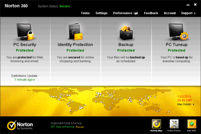 Norton 360 Screenshot