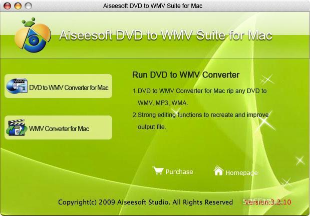 Aiseesoft DVD to WMV Suite for Mac Screenshot 3