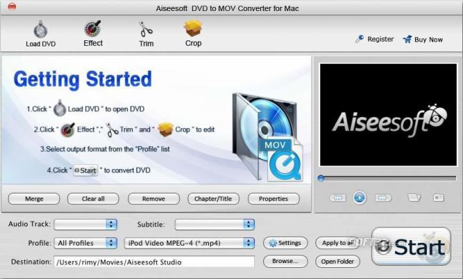 Aiseesoft DVD to MOV Converter for Mac Screenshot 3