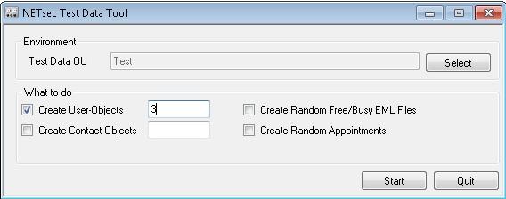Test Data Tool Screenshot 1