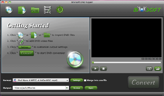 Brorsoft DVD Ripper for Mac Screenshot