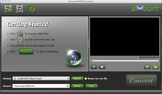 Brorsoft MKV Converter for Mac Screenshot 1