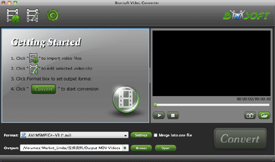 Brorsoft Video Converter for Mac Screenshot