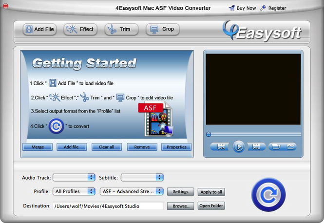 4Easysoft Mac ASF Video Converter Screenshot 1