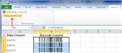 Barcode Add in for Word and Excel Screenshot