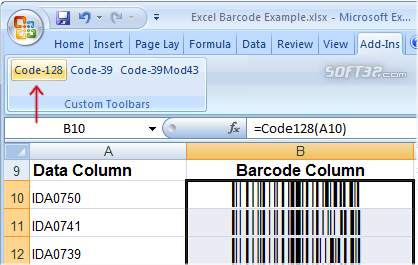 Download Barcode Add in for Word and Excel 11.10