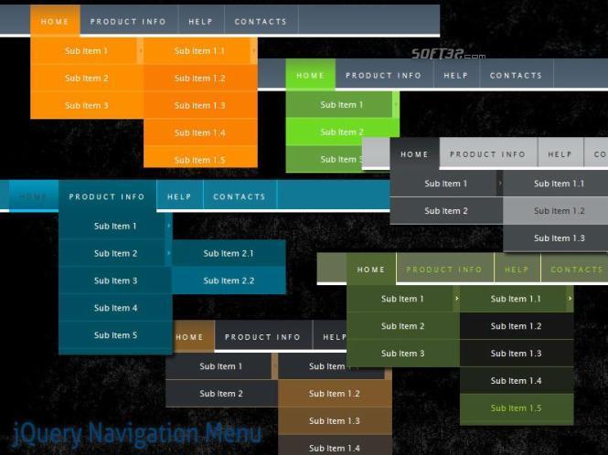 jQuery Navigation Menu Style 10 Screenshot 2