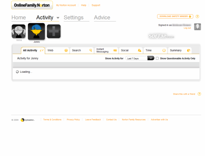 Norton Online Family Screenshot 4
