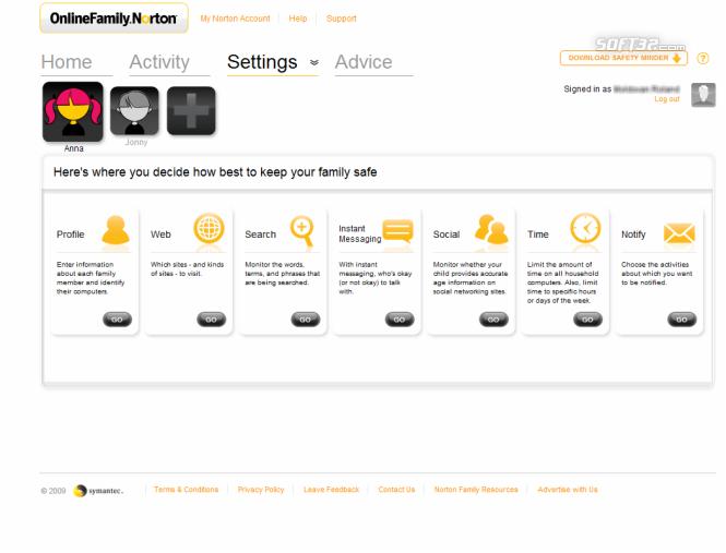 Norton Online Family Screenshot 5