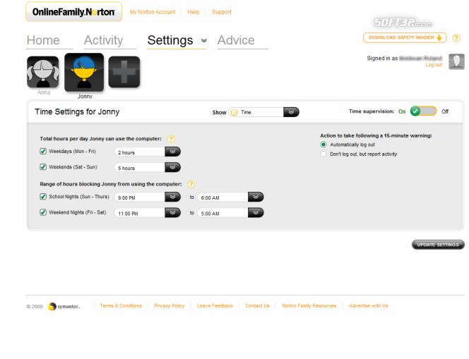 Norton Online Family Screenshot 7