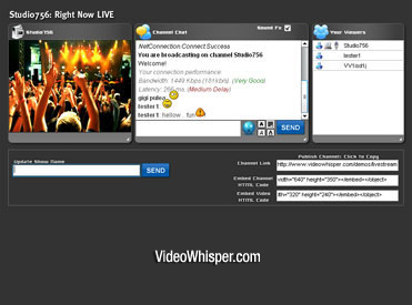 Live Webcam Video Streaming Script Screenshot 1
