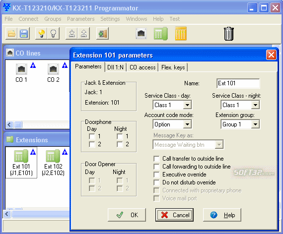 KX-T123211 Programmator Screenshot 2