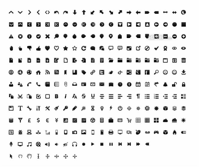 Wireframe black and white icon set Screenshot 2