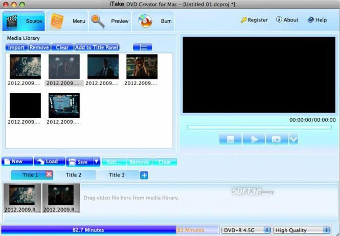 iTake DVD Creator burner for Mac Screenshot 3