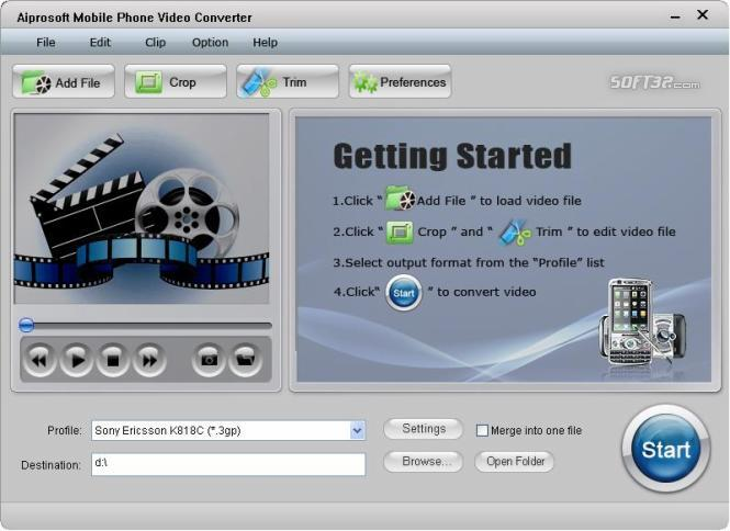 Aiprosoft Mobile Phone Video Converter Screenshot 3