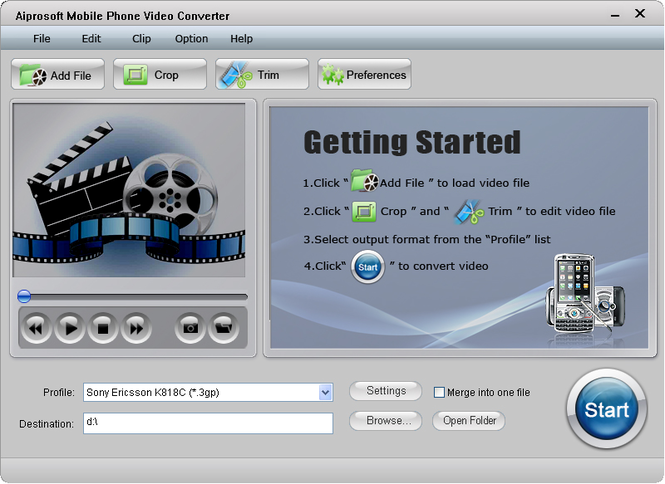Aiprosoft Mobile Phone Video Converter Screenshot 1