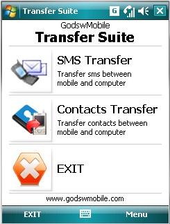 Windows Mobile Transfer Suite Screenshot