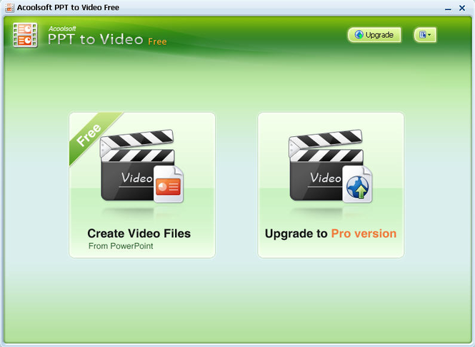 Acoolsoft PPT to Video Free Screenshot