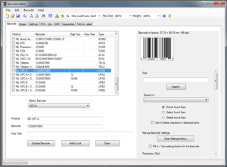 Barcode Image Maker Pro Screenshot