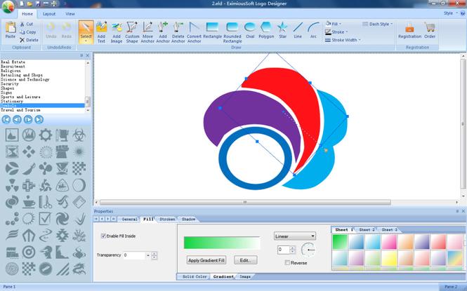 EximiousSoft Logo Designer Screenshot