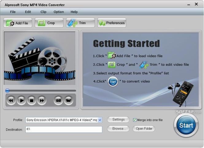 Aiprosoft Sony MP4 Video Converter Screenshot