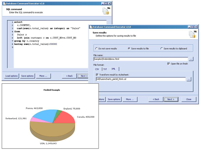 Database Command Executor Screenshot