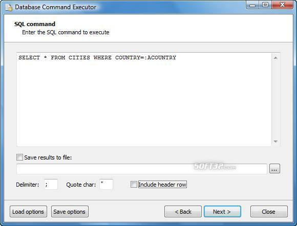 Database Command Executor Screenshot 2