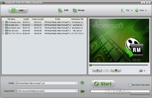 Aneesoft RM Video Converter Screenshot 2