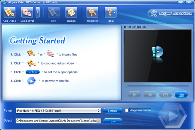 Moyea Video DVD Converter Ultimate Screenshot