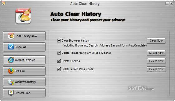 Auto Clear History Screenshot