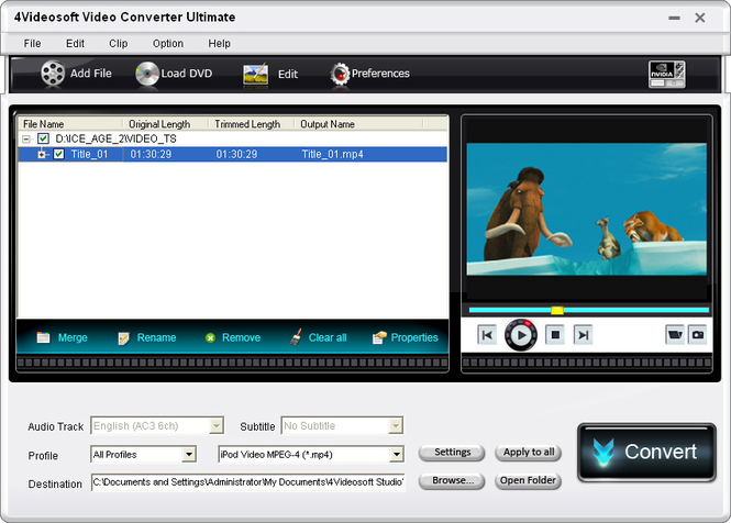 4Videosoft Video Converter Ultimate Screenshot