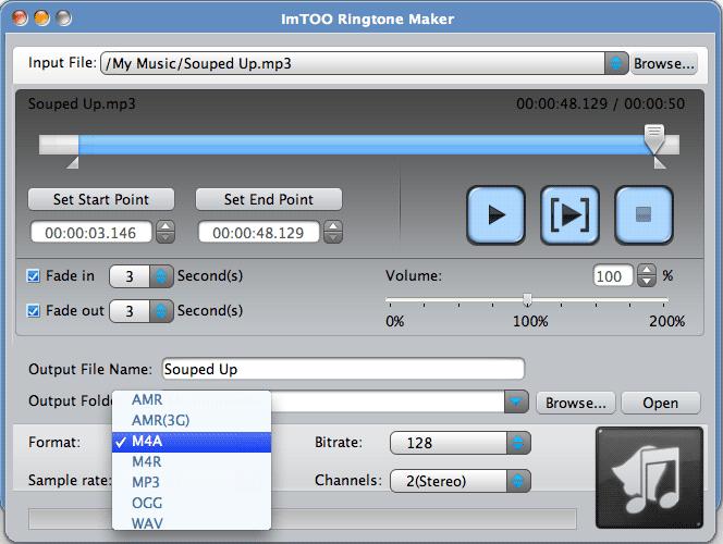ImTOO Ringtone Maker for Mac Screenshot 1