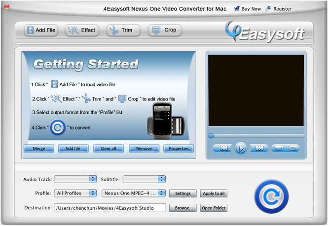 4Easysoft Mac Nexus One Video Converter Screenshot 1