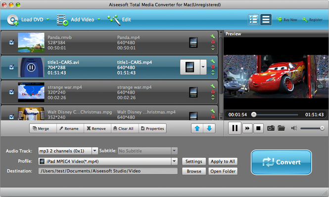 Aiseesoft Total Media Converter for Mac Screenshot