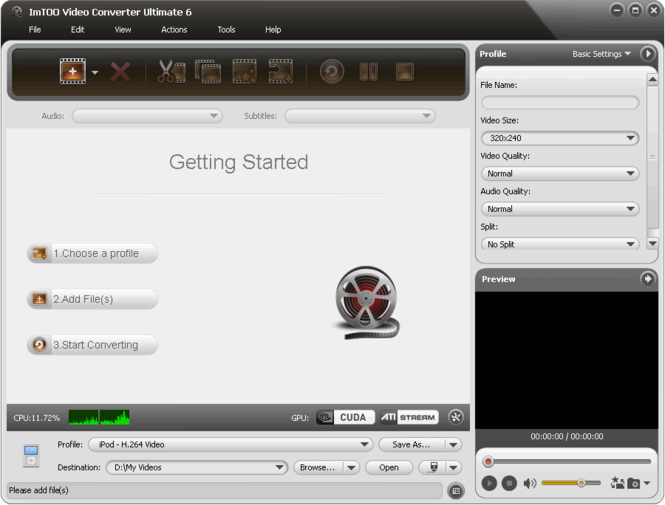 ImTOO Video Converter Ultimate 6 Screenshot 1