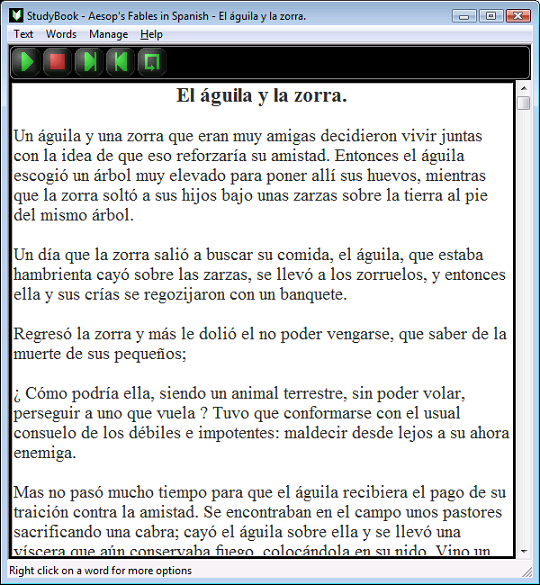 StudyBook Spanish Screenshot