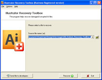 Illustrator Recovery Toolbox Screenshot