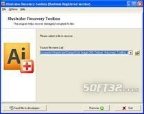 Illustrator Recovery Toolbox Screenshot 2