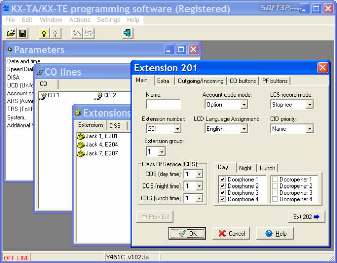 KX-TA Programmator Screenshot 2